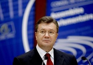 Янукович вернулся из Страсбурга