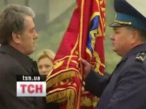 Ющенко посетил бригаду тактической авиации в Василькове