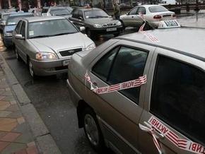 С Донецка стартовала всеукраинская акция протеста таксистов
