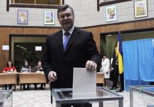Янукович о выборах: Наша страна еще раз подтвердила верность демократическим стандартам