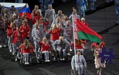 Белорусы вышли на открытие Паралимпиады с российским флагом