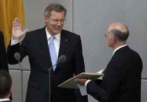 Президент ФРГ вступил в должность