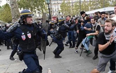 У Парижі сталися сутички між протестувальниками й поліцією