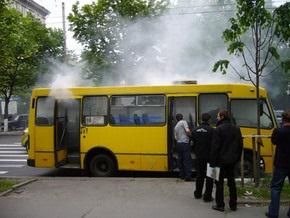 У метро Лукьяновская сегодня утром горела маршрутка
