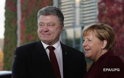Меркель и Порошенко на Нормандской встрече