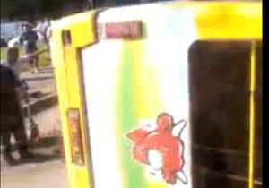 Во Львове опрокинулся автобус, семь человек травмированы