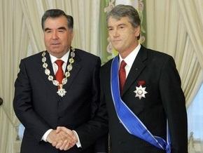 Ющенко встретился с президентом Таджикистана