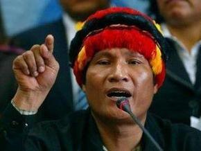 Лидер перуанских индейцев скрывается на территории посольства Никарагуа