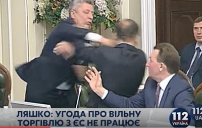 В Опоблоці заявили, що за фактом бійки Бойка і Ляшка порушено справу