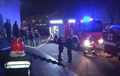 Пожар произошел в развлекательном центре  Ми100  во Львове