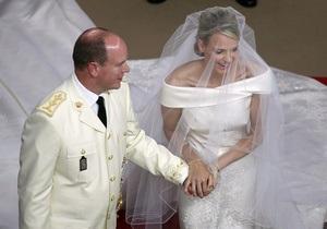 Князь Альбер II и Шарлен Уиттсток обвенчались в Монако