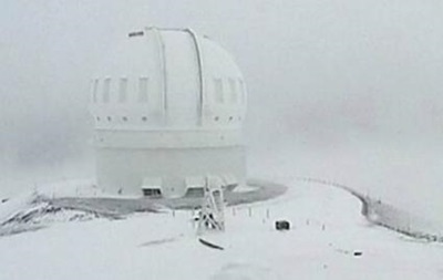 На Гавайях выпало 90 сантиметров снега
