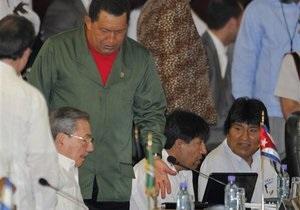 Чавес поссорился с президентом Колумбии