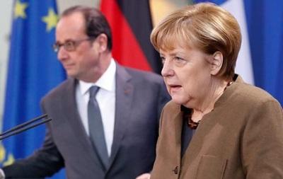Меркель і Олланд виступили за продовження санкцій проти РФ