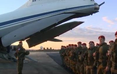 Появилось видео высадки в Сирии российских военных