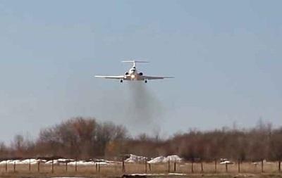 У Мережі з явилося відео можливого вибуху Ту-154