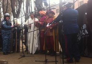 Под Лукьяновским СИЗО устроили вертеп в поддержку Луценко