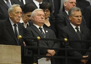 В парламенте Польши прошло траурное заседание в память о погибших при крушении Ту-154