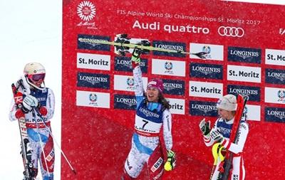 Гірськолижний спорт: Голденер - чемпіонка світу в комбінації