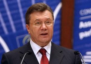 Янукович рассказал в ПАСЕ об идее, которая объединила украинское общество