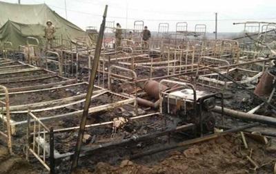 На Прикарпатті у військовій частині згоріли 15 наметів, є постраждалі