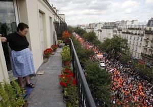 Забастовка во Франции: на улицы вышли почти полмиллиона человек