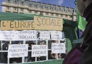 В Брюсселе прошла демонстрация против мер жесткой экономии