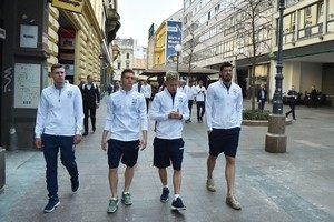 Збірна України прогулялася по Загребу
