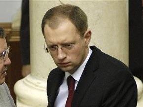 Яценюк: Министр финансов не может претендовать на яркое политическое будущее