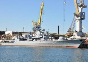 Флагман украинского флота встал на плановый ремонт