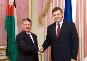 Украина определила наиболее перспективные сферы сотрудничества с Иорданией