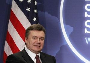 Янукович рассчитывает на поддержку США