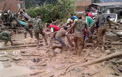 Жертвами схода оползня в Колумбии стали почти 300 человек