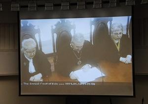 Апелляционный суд не удовлетворил ходатайство Павличенко об отводе коллегии судей
