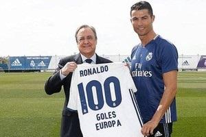 Роналду получил подарок от президента Реала в честь сотого гола в еврокубках