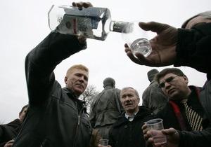Опрос: Россияне по-прежнему не прочь выпить