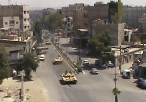 Конфликт в Сирии - президентский дворец в Дамаске поврежден снарядами