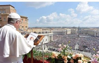 Папа Римский благословил Украину в Пасху