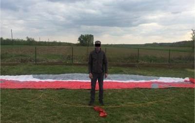 На Закарпатті затримали парашутиста з Угорщини