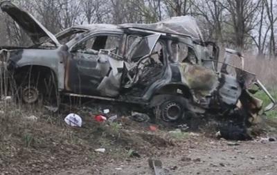 У ЛНР показали відео з місця підриву патруля ОБСЄ