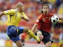 Евро-2008: Испания побеждает Швецию и выходит в четвертьфинал
