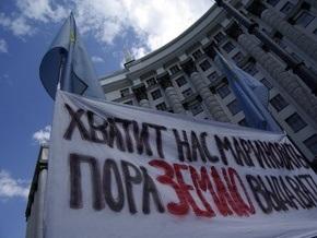 Крымские татары заявили о нападении на участников акции протеста под стенами Кабмина