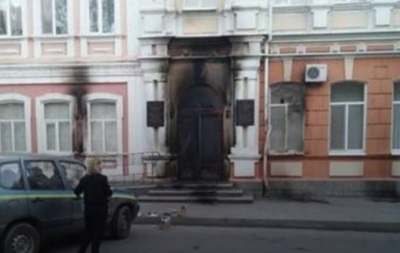 Міськраду Мелітополя закидали коктейлями Молотова