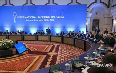 Переговори щодо Сирії в Астані відновляться в середині червня