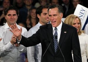 Победа Ромни в двух штатах увеличивает отрыв от Санторума