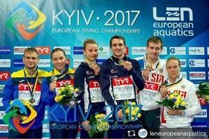 Україна здобула першу медаль домашнього ЧЄ зі стрибків у воду