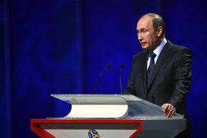 Путін: Запитав, чи буде Росія нормально грати? Фахівці сказали - ні