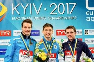 Україна вийшла на перше місце в медальному заліку ЧЄ зі стрибків у воду
