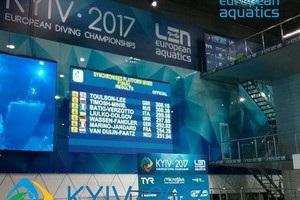 Українська пара зупинилася за крок до медалі ЧЄ зі стрибків у воду