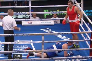 Вимкнув світло: яскравий нокаут від українця Вихриста на ЧЄ з боксу